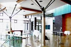Energietechnik Barbara Kuenkelin Halle FoyerbereichVeranstaltungshalle