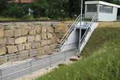 Infrastruktur Bahnhof Amstetten Rampe mit Anschluss an bestehende Unterfuehrung
