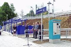 Infrastruktur Bahnhof Westerstetten Bahnsteig mit Rampe