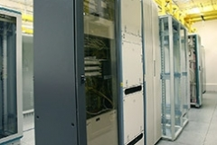 IT-Technik Telehaus Frankfurt 1-Reihe-Racks