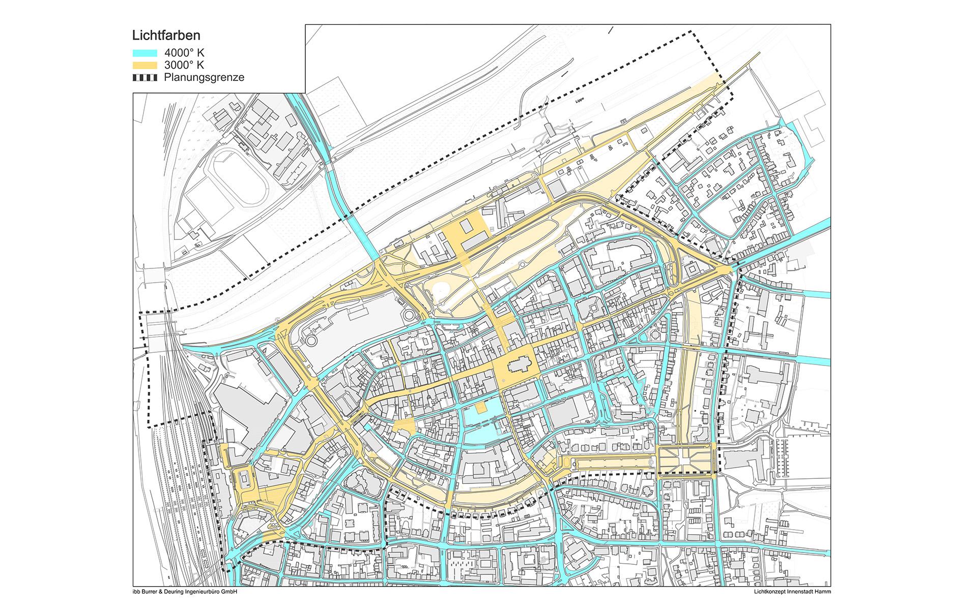 Visualisierung eines Lichtkonzepts in der Stadt Hamm